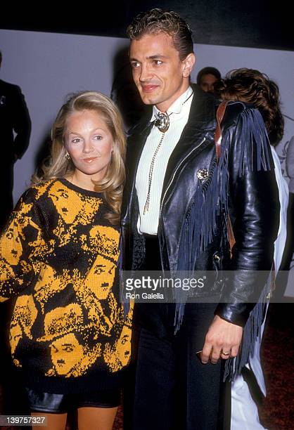 Actress Charlene Tilton and husband Domenick Allen attend the First Annual American Comedy Awards on May 19 1987 at Hollywood Palladium in Hollywood...