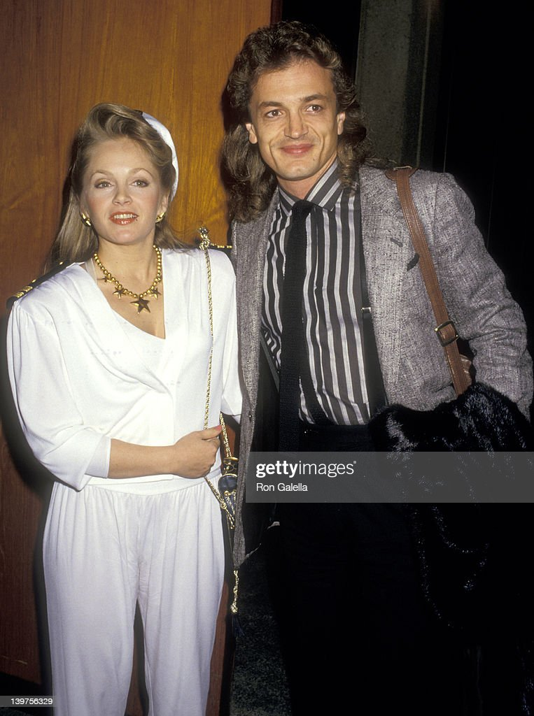 Actress Charlene Tilton and husband Domenick Allen attend the ''Light Up the Sky' Opening Night Performance on March 8 1987 at Ahmanson Theatre Los...