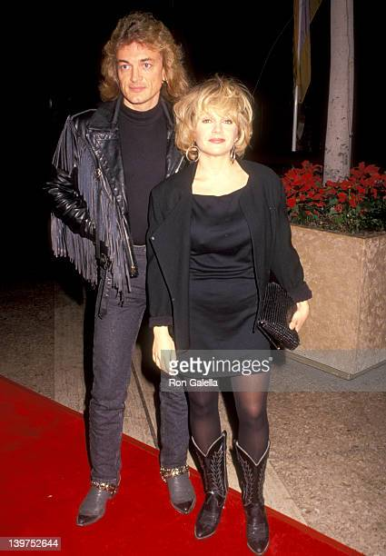 Actress Charlene Tilton and husband Domenick Allen attend 'The Long Walk Home' Century City Premiere on December 11 1990 at Pllit's Century Plaza...