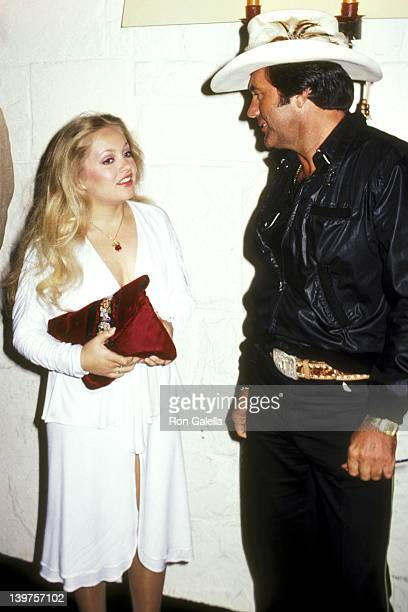 Actress Charlene Tilton and Restauranteur John Rockwell attend the WrapUp Party for the Fourth Season of 'Dallas' on April 11 1981 at The Cattle...