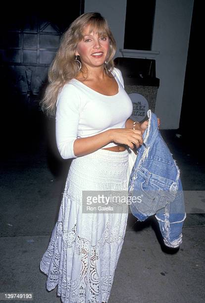Actress Charlene Tilton attends the Ringo and the AllStarr Band in Concert on September 4 1989 at Greek Theatre in Los Angeles California