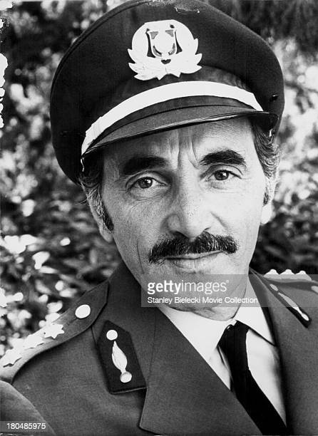 Actress Charles Aznavour in a scene from the movie Sky Riders 1976