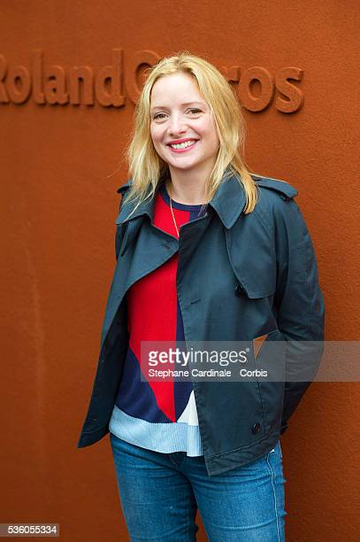 Actress Charlie Bruneau attends day ten of the 2016 French Open at Roland Garros on May 31 2016 in Paris France