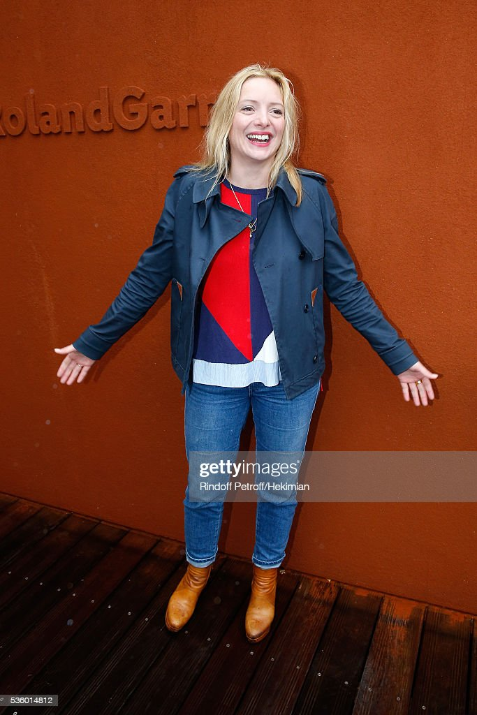 Actress Charlie Bruneau attends Day Ten of the 2016 French Tennis Open at Roland Garros on May 31, 2016 in Paris, France.