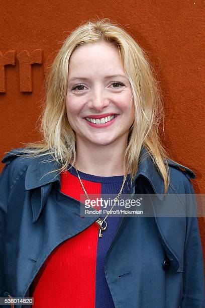 Actress Charlie Bruneau attends Day Ten of the 2016 French Tennis Open at Roland Garros on May 31 2016 in Paris France