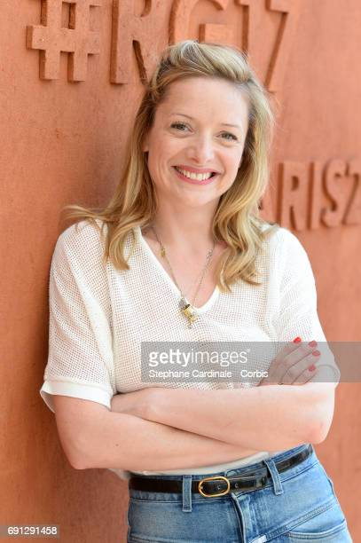 Actress Charlie Bruneau attends the 2017 French Tennis Open Day Five at Roland Garros on June 1 2017 in Paris France