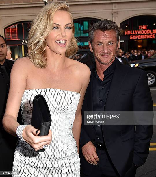 Actress Charlize Theron and actor Sean Penn attend the premiere of Warner Bros Pictures' 'Mad Max Fury Road' at TCL Chinese Theatre on May 7 2015 in...