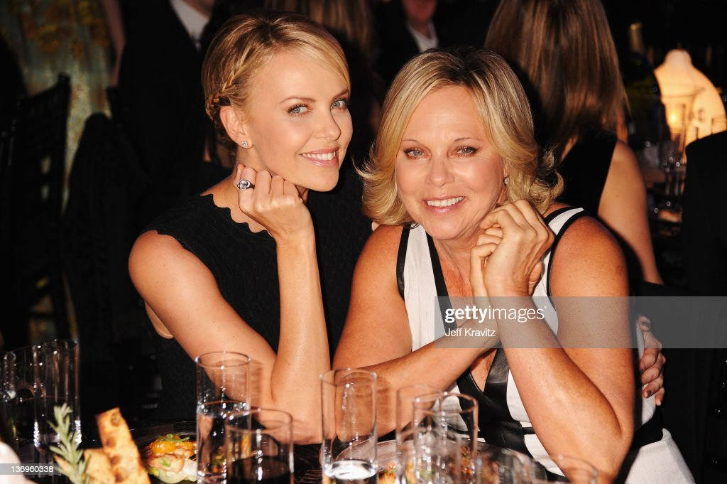 Actress <a gi-track='captionPersonalityLinkClicked' href=/galleries/search?phrase=Charlize+Theron&family=editorial&specificpeople=171250 ng-click='$event.stopPropagation()'>Charlize Theron</a> and Gerda Theron attends the 17th Annual Critics' Choice Movie Awards held at The Hollywood Palladium on January 12, 2012 in Los Angeles, California.