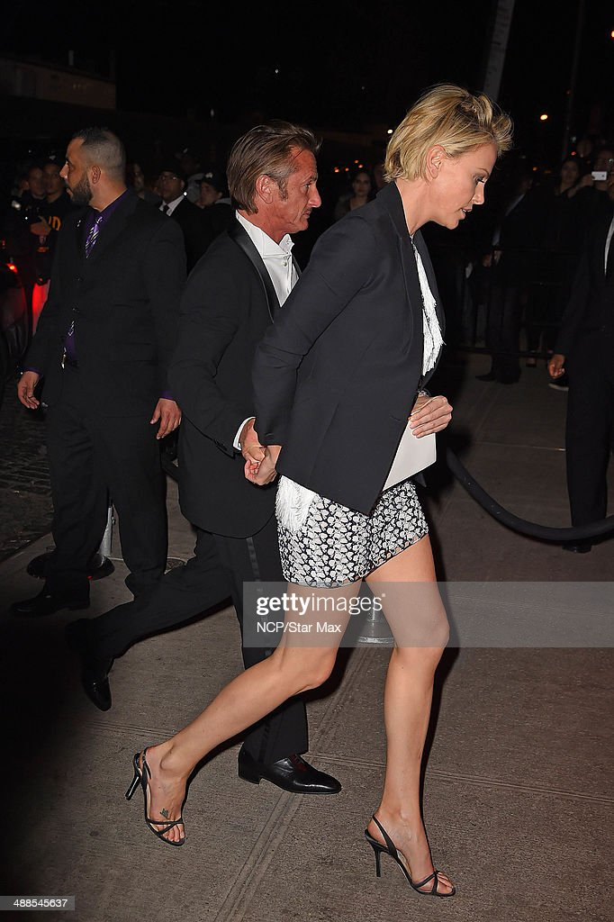 Actress Charlize Theron and Sean Penn are seen at the after-party for The Costume Institute Benefit Gala on May 5, 2014 in New York City.