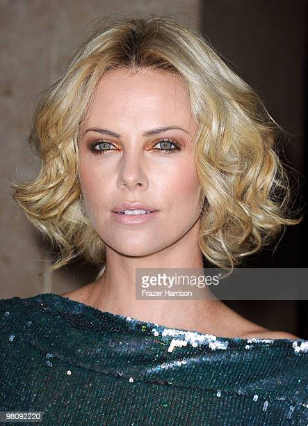 Actress Charlize Theron arrives at American Cinematheque 24th Annual Award Presentation To Matt Damon at The Beverly Hilton hotel on March 27 2010 in...
