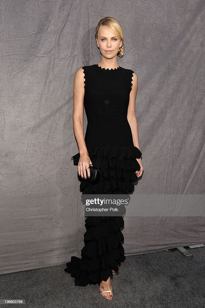 Actress Charlize Theron arrives at the 17th Annual Critics' Choice Movie Awards held at The Hollywood Palladium on January 12 2012 in Los Angeles...