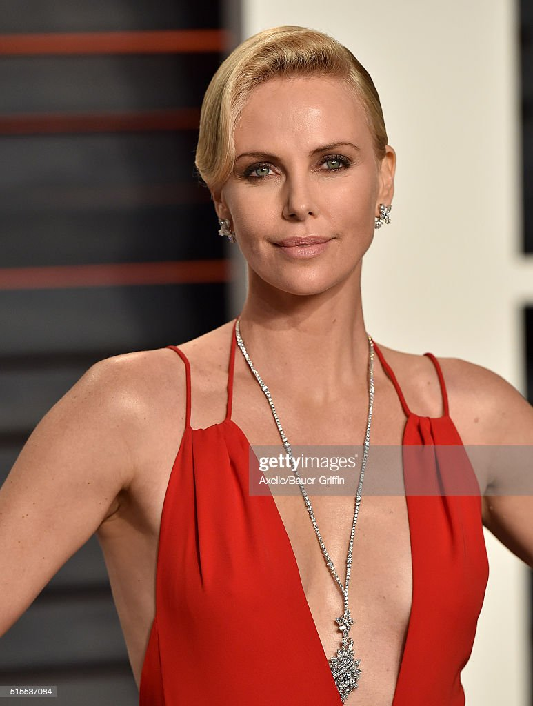 Actress Charlize Theron arrives at the 2016 Vanity Fair Oscar Party Hosted By Graydon Carter at Wallis Annenberg Center for the Performing Arts on February 28, 2016 in Beverly Hills, California.