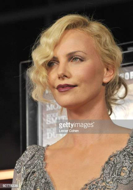 Actress Charlize Theron arrives at the AFI Fest 2009 gala screening of 'The Road' at Grauman's Chinese Theatre on November 4 2009 in Hollywood...
