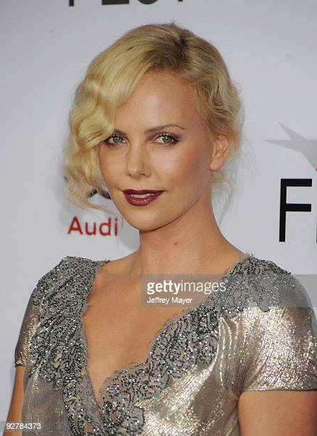 HOLLYWOOD CA November 04 Actress Charlize Theron arrives at the AFI Fest 2009 gala screening of 'The Road' at Grauman's Chinese Theatre on November 4...