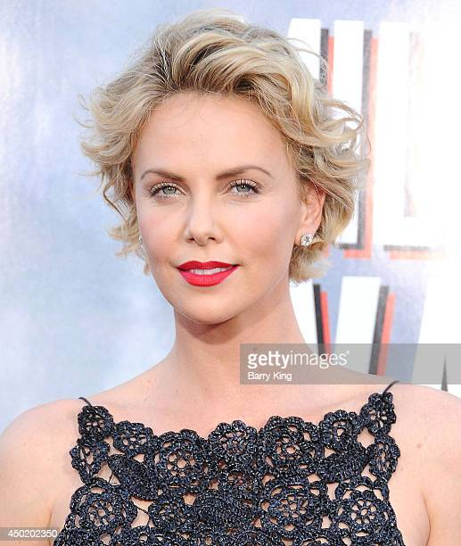 Actress Charlize Theron arrives at the Los Angeles Premiere 'A Million Ways To Die In The West' on May 15 2014 at Regency Village Theatre in Westwood...