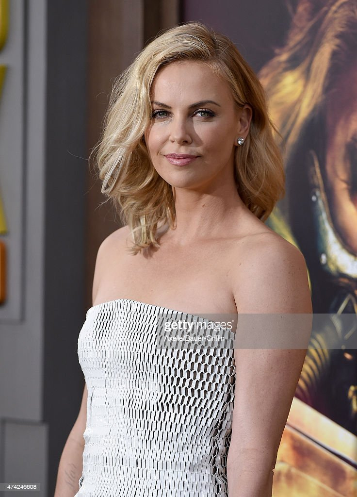 Actress Charlize Theron arrives at the Los Angeles premiere of 'Mad Max: Fury Road' at TCL Chinese Theatre IMAX on May 7, 2015 in Hollywood, California.