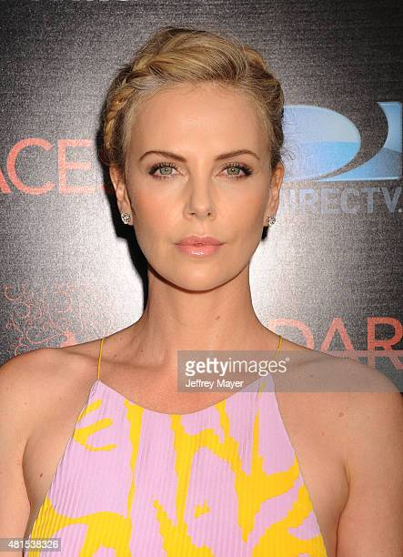 Actress Charlize Theron arrives at the Premiere Of DIRECTV's 'Dark Places' at Harmony Gold Theatre on July 21 2015 in Los Angeles California