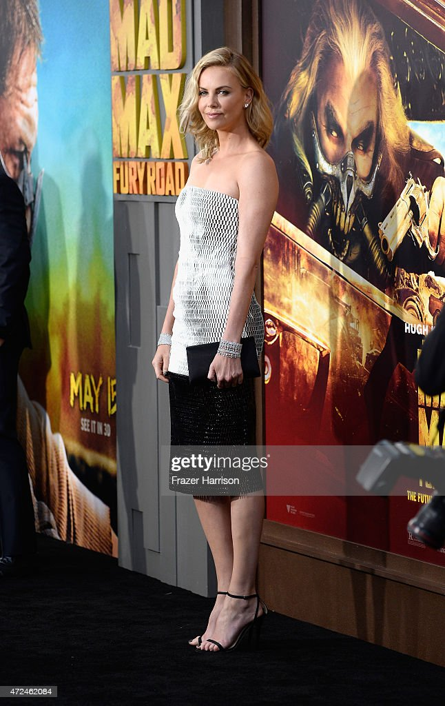 Actress Charlize Theron arrives at the Premiere Of Warner Bros. Pictures' 'Mad Max: Fury Road' at TCL Chinese Theatre on May 7, 2015 in Hollywood, California.