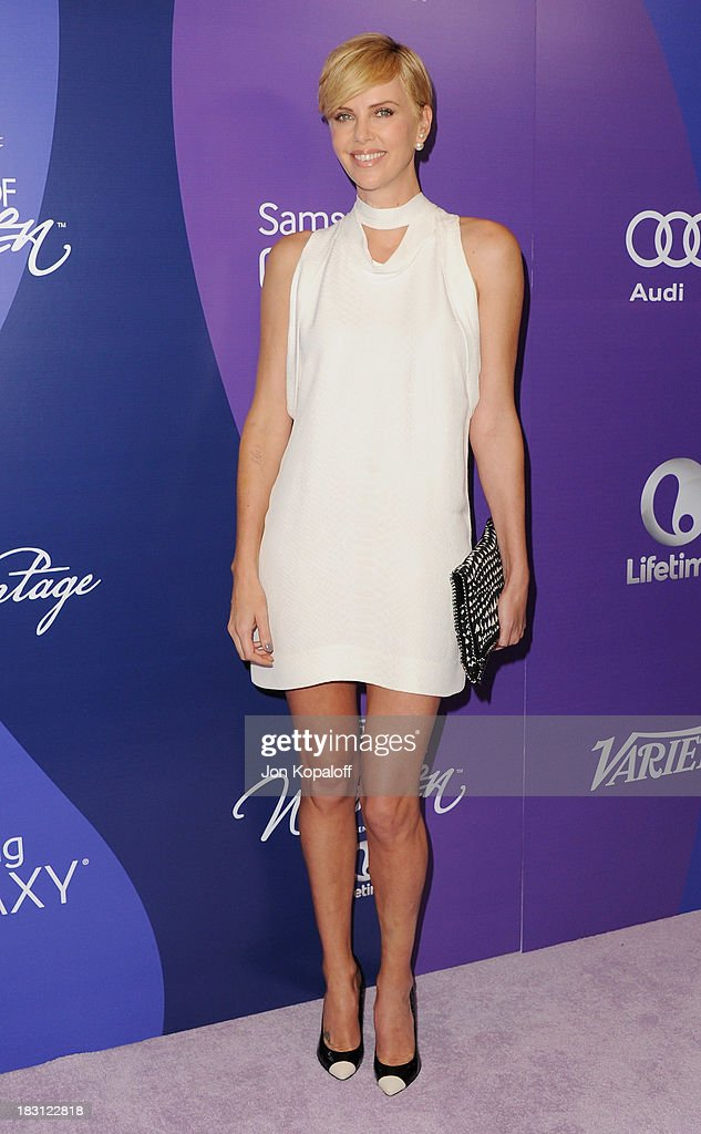 Actress Charlize Theron arrives at Variety's 5th Annual Power Of Women Event at the Beverly Wilshire Four Seasons Hotel on October 4, 2013 in Beverly Hills, California.