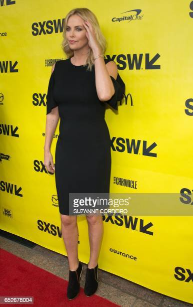 Actress Charlize Theron arrives for the premiere of the film Atomic Blonde during The South by Southwest Film Conference held at the Paramount...