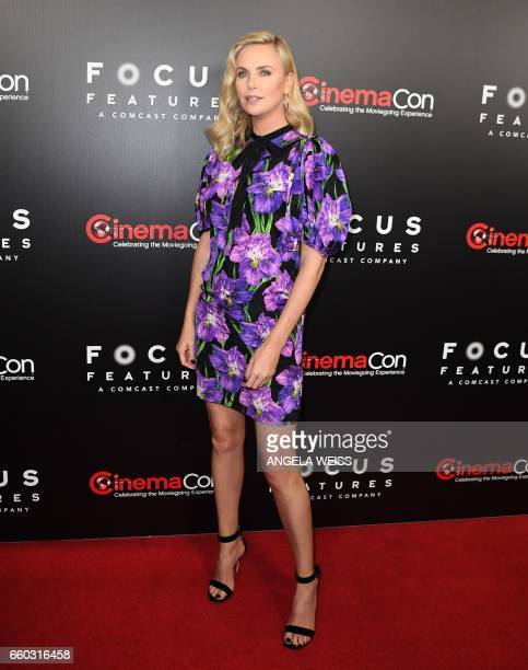 Actress Charlize Theron attends a Focus Features luncheon and studio program celebrating 15 Years during CinemaCon at The Colosseum at Caesars Palace...