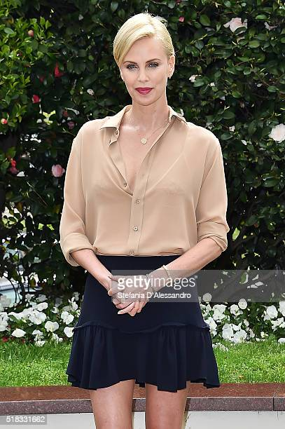 Actress Charlize Theron attends 'Il Cacciatore E La Regina Di Ghiaccio' Photocall In Milan on March 31 2016 in Milan Italy