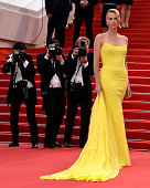 Actress Charlize Theron attends Premiere of 'Mad Max Fury Road' during the 68th annual Cannes Film Festival on May 14 2015 in Cannes France