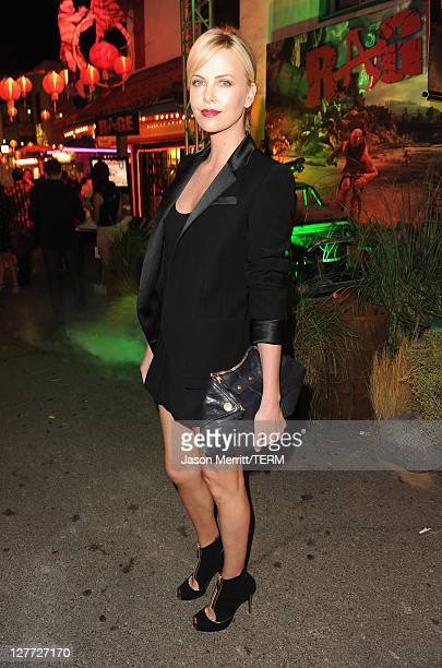 Actress Charlize Theron attends RAGE Official Launch Party at Chinatown's Historical Central Plaza on September 30 2011 in Los Angeles California