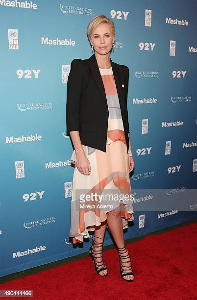 Actress Charlize Theron attends the 2015 Social Good Summit at 92Y on September 28 2015 in New York City