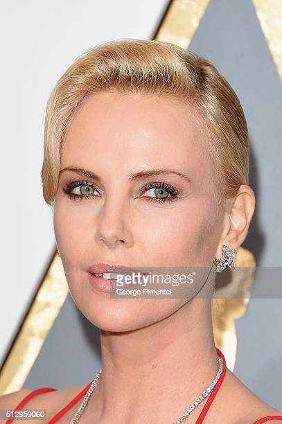 Actress Charlize Theron attends the 88th Annual Academy Awards at Hollywood Highland Center on February 28 2016 in Hollywood California