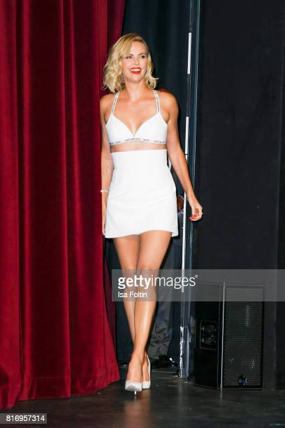 US actress Charlize Theron attends the 'Atomic Blonde' World Premiere at Stage Theater on July 17 2017 in Berlin Germany