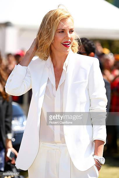 Actress Charlize Theron attends the Australian Formula One Grand Prix at Albert Park on March 15 2015 in Melbourne Australia
