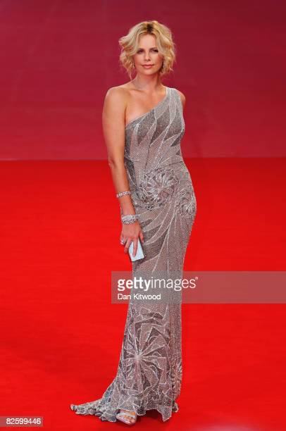Actress Charlize Theron attends The Burning Plain premiere held at the Sala Grande during the 65th Venice Film Festival on August 29 2008 in Venice...