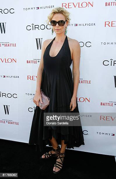 Actress Charlize Theron attends the exclusive Malibu screening of 'Battle In Seattle' hosted by W Magazine on June 29 2008 Malibu California