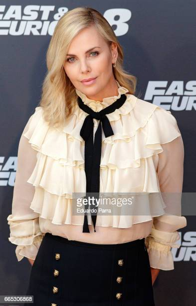 Actress Charlize Theron attends the 'Fast Furious 8' photocall at Villamagna hotel on April 6 2017 in Madrid Spain