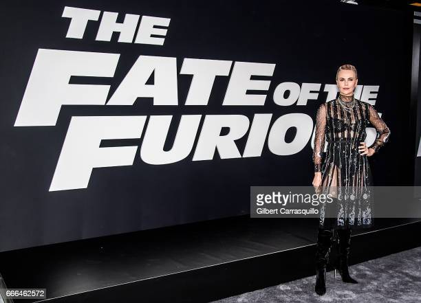 Actress Charlize Theron attends 'The Fate Of The Furious' New York Premiere at Radio City Music Hall on April 8 2017 in New York City