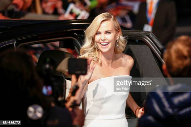 US actress Charlize Theron attends the premiere for the film 'Fast Furious 8' at Sony Centre on April 4 2017 in Berlin Germany