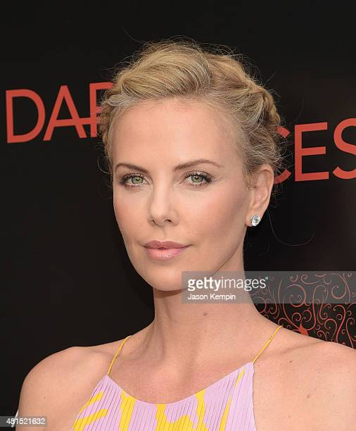 Actress Charlize Theron attends the premiere of 'Dark Places' at Harmony Gold Theatre on July 21 2015 in Los Angeles California