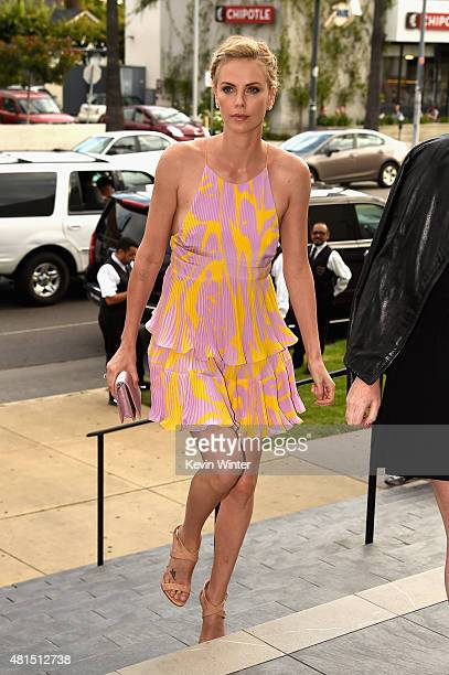 Actress Charlize Theron attends the premiere of DIRECTV's 'Dark Places' at Harmony Gold Theatre on July 21 2015 in Los Angeles California