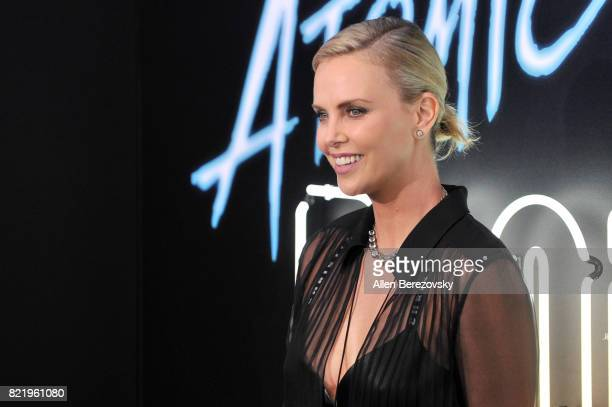 Actress Charlize Theron attends the premiere of Focus Features' 'Atomic Blonde' at The Theatre at Ace Hotel on July 24 2017 in Los Angeles California