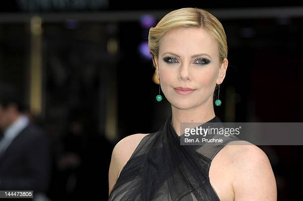 Actress Charlize Theron attends the World Premiere of 'Snow White And The Huntsman' at The Empire and Odeon Leicester Square on May 14 2012 in London...