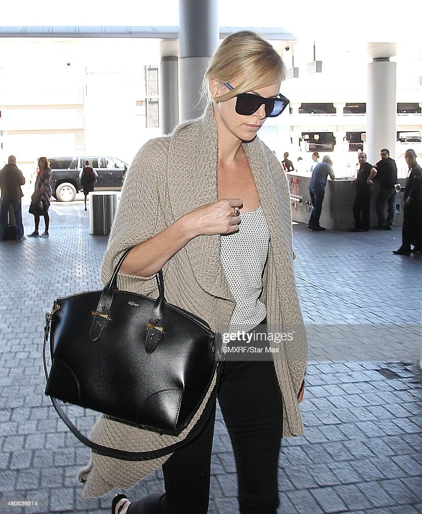 Actress Charlize Theron is seen on July 12, 2015 in Los Angeles, California.
