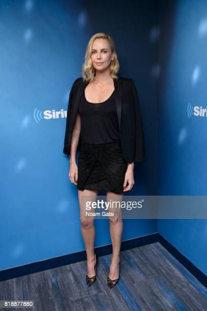 Actress Charlize Theron visits '80s on 8' at the SiriusXM Studios on July 19 2017 in New York City