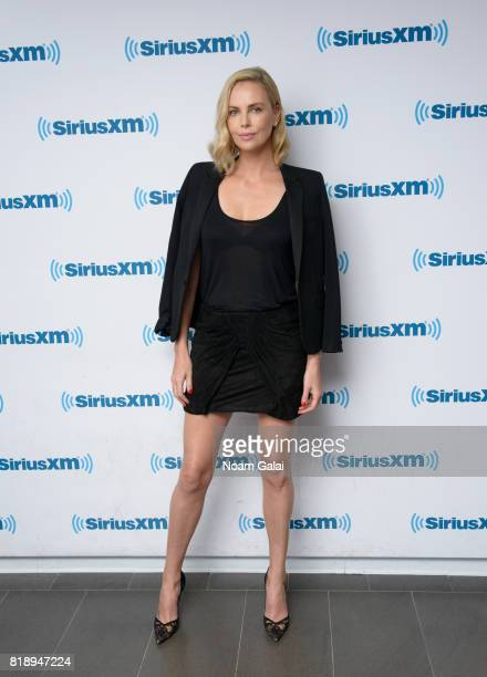 Actress Charlize Theron visits the SiriusXM Studios on July 19 2017 in New York City
