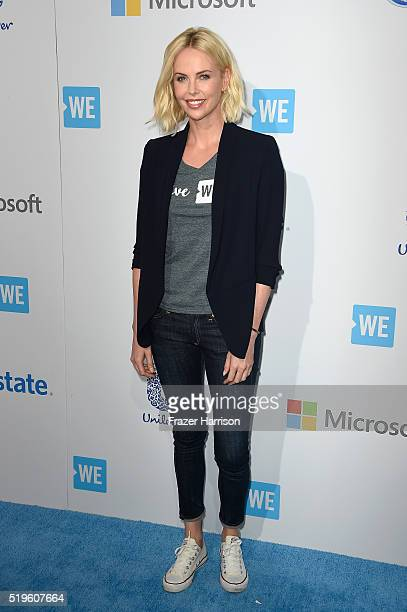 Actress Charlize Theron walks the WE Carpet at WE Day California 2016 at The Forum on April 7 2016 in Inglewood California