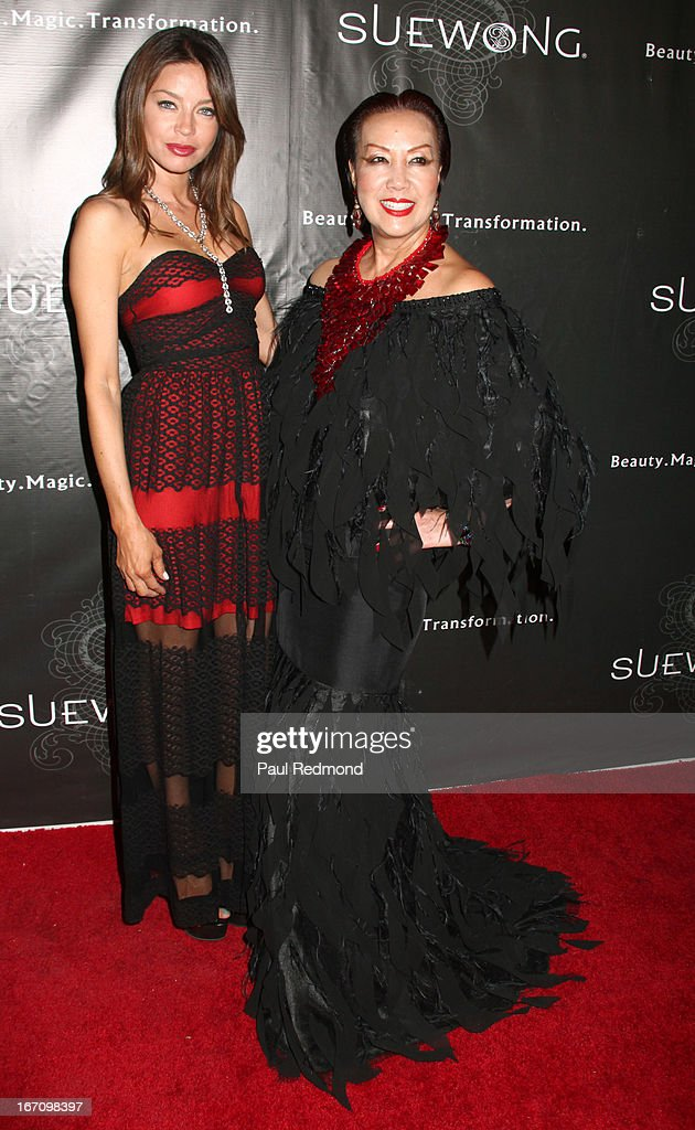Actress Charlotte Ayana and Sue Wong attend Sue Wong's Great Gatsby Fall 2013 Collection on April 19, 2013 in Los Angeles, California.