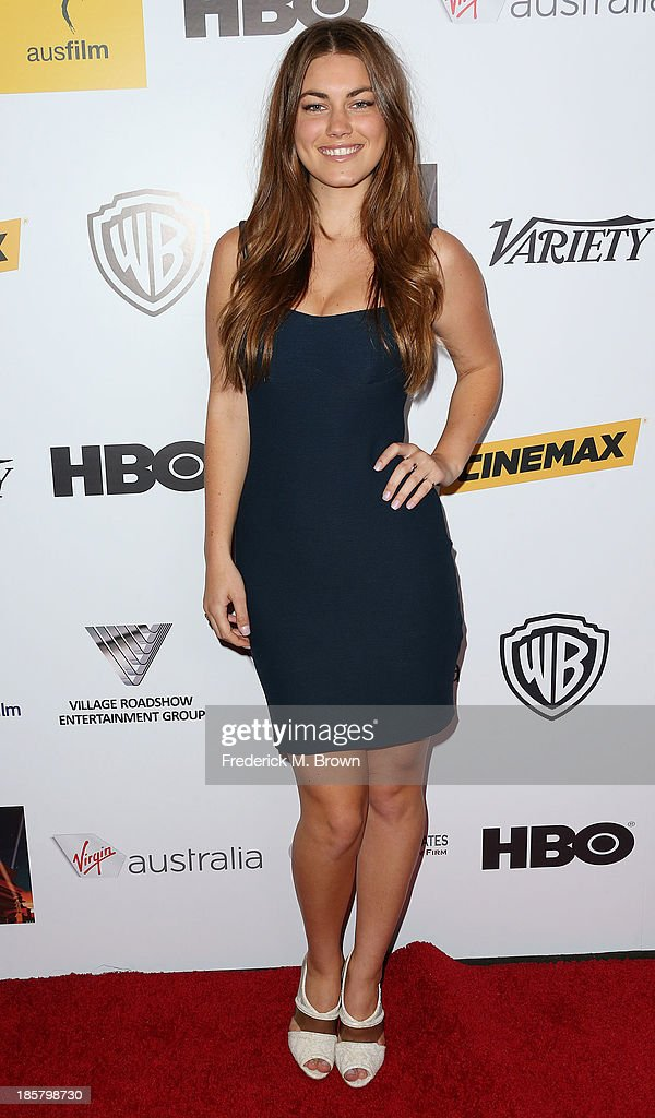 Actress Charlotte Best attends the Australians in Film Benefit Dinner at the at Intercontinental Hotel on October 24, 2013 in Beverly Hills, California.
