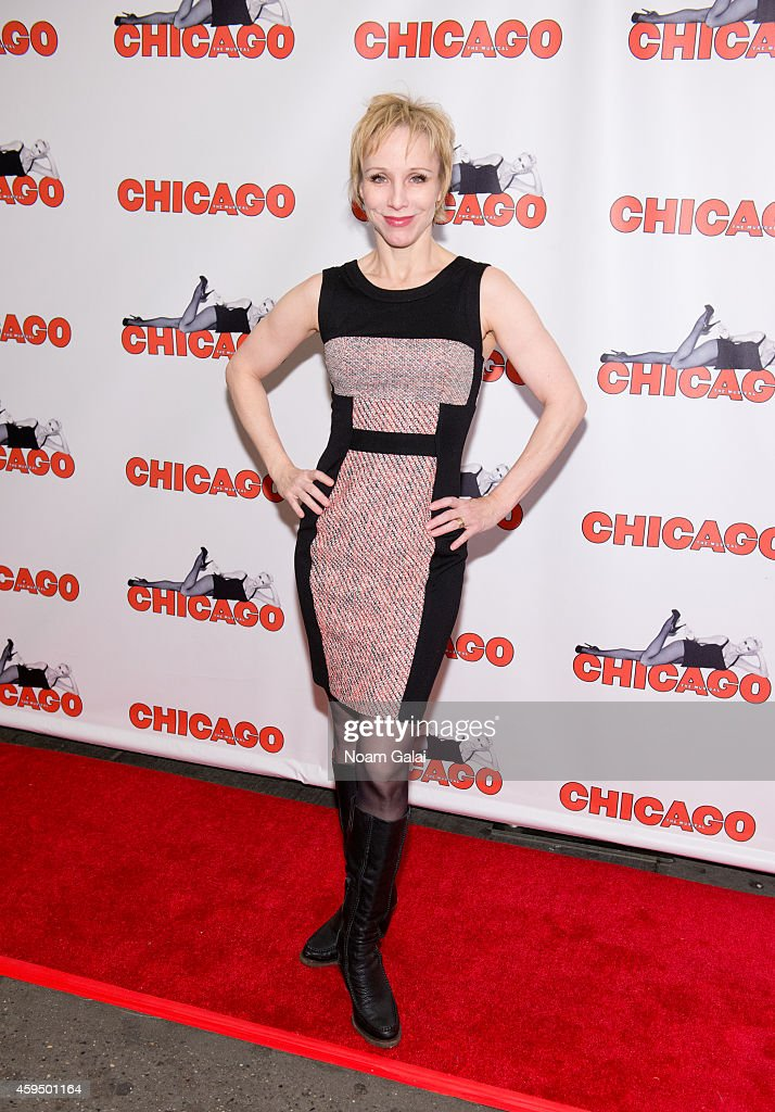 Actress Charlotte d'Amboise attends the 7486th performance of 'Chicago' the second longest running Broadway show of all time at Ambassador Theater on...