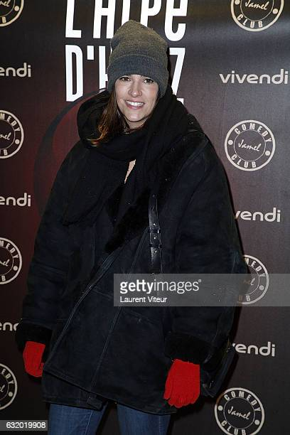 Actress Charlotte Gabris attends the Photocall 'Le Jamel Comedy Club prend de l'Altitude at Le Signal at a 2108 meter height on January 18 2017 in...