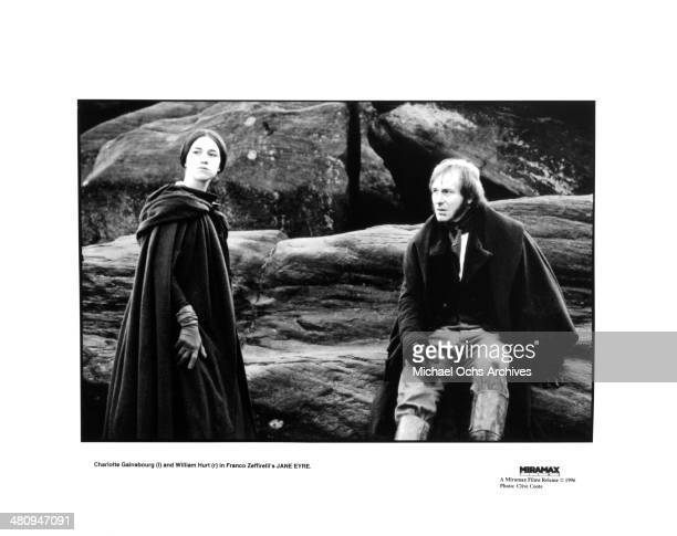 Actress Charlotte Gainsbourg and actor William Hurt in a scene from the movie 'Jane Eyre' circa 1996